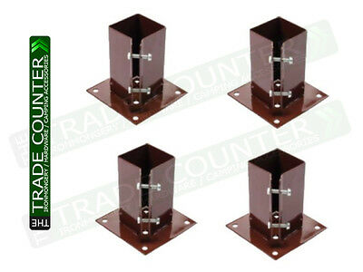 """Fence Post Holders / Support - Metal - 3"""" Bolt Down 75 mm Like Metpost Bolt Grip"""
