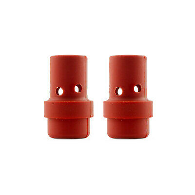 Binzel Style MIG Gas Diffuser - MB36 - Red Silicone - 2 Each