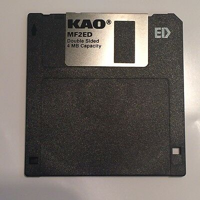 KAO MF2ED 2.88MB / 4MB 3.5 INCH EXTRA DENSITY FLOPPY DISC                  bsd0a