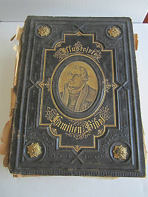 German Illustrirte Bible - 1800's? H Amilien Urkunde (Incunable) Art-1800+ Pages
