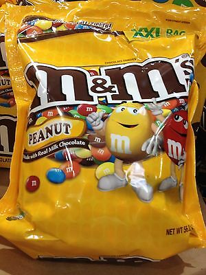 Peanut M&M's 56 oz Milk Choc  Bulk Candy XXL Bag Receptions, Parties, Vending