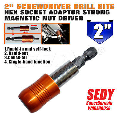 """60mm Magnetic Extension Drill Chuck Quick Release Change Screw Bit But Driver 2"""""""