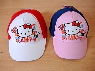 08298ee81 NEW GIRLS HELLO Kitty Baseball Cap Hat Pink Red White Approx Ages 2-4 4-8  Years