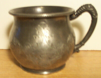 """1869 Silverplate Cup Engraved 3 1/8"""" Tall Providence Silverplate Co Quadruple"""