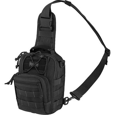 Black Outdoor Tactical Gearslinger Backpack, Mens Remora Small Camping Hike Bag