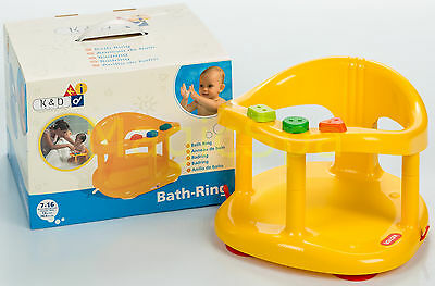 Infant Baby Bath Tub Ring Seat KETER Yellow SHIPPING FROM USA new in BOX