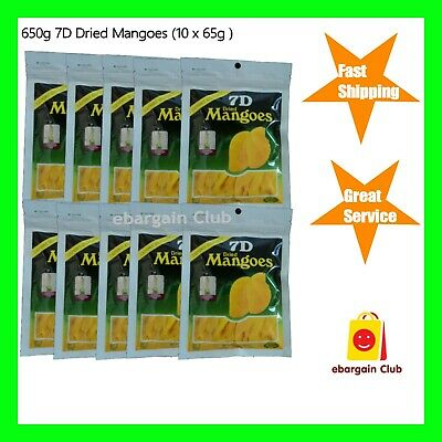 10 x 7D Dried Mango Philippines Mangoes (10 x 80g)