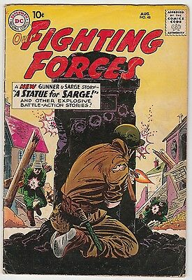 OUR FIGHTING FORCES #48,BRIGHT GLOSSY COPY,10c DC SILVER AGE!
