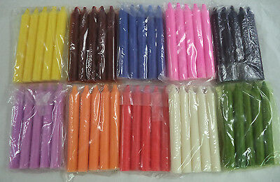 "Bulk Lot of 50 x 6"" Taper Spell Candles: ASSORTED COLOR (Wicca Altar Household)"