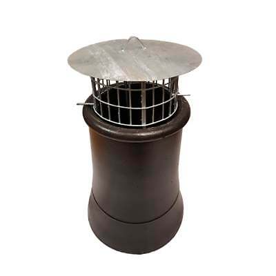 Chimney Bird Cage Guard with Rain Cap Anti-Down Draught Fire Roof Cowl 2 Sizes