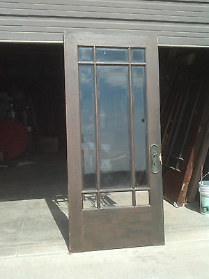 Oak veneer door prarie style painted one side    (ED 2 )