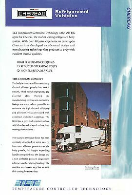 Chereau Refrigerated Trailers/bodies Sales Sheet