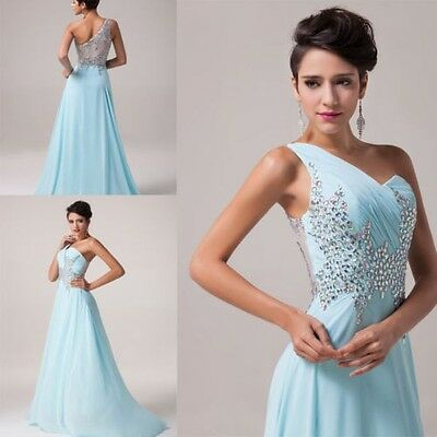 2015 Beaded Cocktail Bridesmaid Chiffon Gown Bridesmaid Long Prom Party Dresses