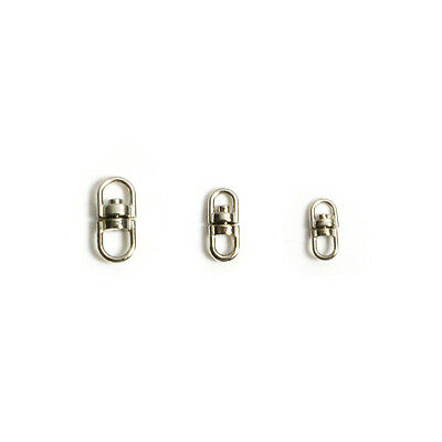 Swivel Connectors Clasp Clip 360 Double Ended Key Ring Two Loops Stainless Steel