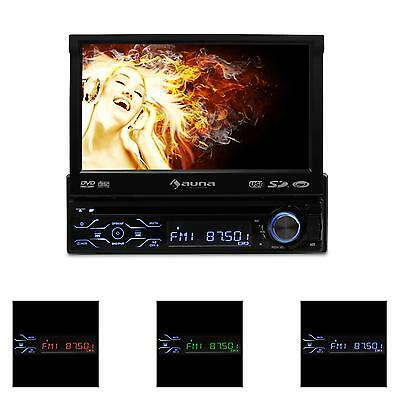 "Radio De Coche Auto Auna Dvd Usb Pantalla Tactil Display 18Cm (7"") Bluetooth"