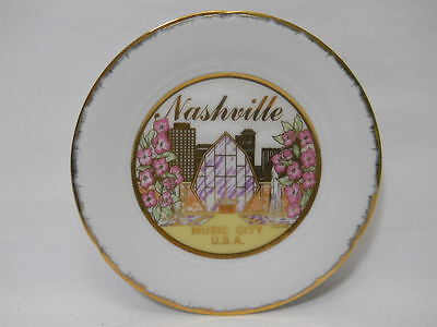Vintage Nashville Old Country Music Hall Of Fame Collectible Souvenir Plate