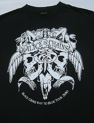 ALICE IN CHAINS 2010 tour SMALL concert T-SHIRT deftones mastodon