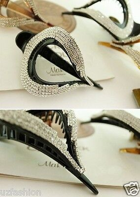 Beautiful Black Rhinestones Hair Clip Claw Clamp