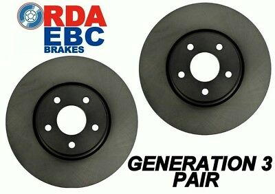Holden Jackaroo Monterey U8 3.5L ABS 2/98 On FRONT Disc brake Rotors RDA840 PAIR