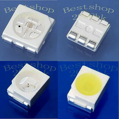 100pcs 3528 1210 PLCC-2 5050 PLCC-6 SMD multicolor LED light
