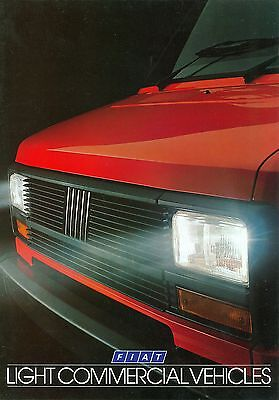 1984/85 Fiat Light Commercials Brochure