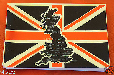 Union Jack & map of Great Britain Oyster travel pass holder / credit card wallet