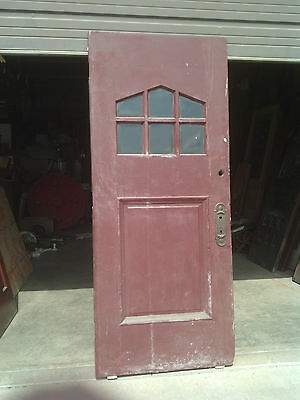 beveled glass town house entrance door painted      (ED 7)