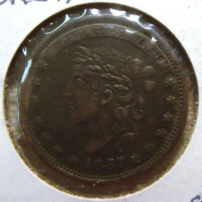 """1837 Hard Times Token """"Millions For Defence Not One Cent For Tribute"""""""