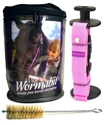 "WORMABIT Horse Pony Worming Bit for worming paste ""PINK"" No Wastage Easy Use a"
