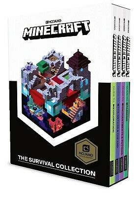 Minecraft Guide Collection 4 Books Collection Box Set Pack Redstone, Creative