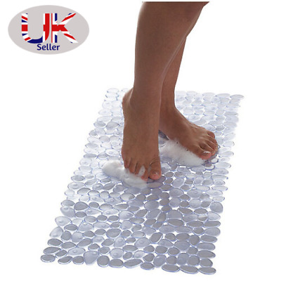 Extra Long Non-Slip Suction Bath Shower Mat Mould & Mildew Resistant - 40x90CM