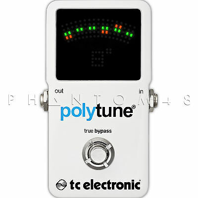 TC Electronic PolyTune 2 Poly-Chromatic Guitar/Bass Tuner Pedal - Free Shipping!