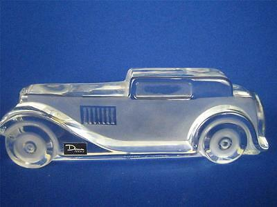 "DAUM FRANCE Clear and Frosted Crystal Relief Series ""MARLY"" Automobile Car"