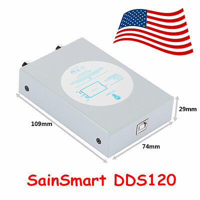 SainSmart DDS120 2 Channel USB PC Portable Virtual Oscilloscope 20MHz 50MSa/s US