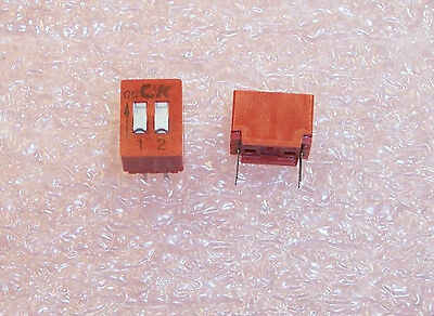 LOT OF 10 pcs BD02 C&K  2 POSITION DIP SWITCH SPST ON-OFF...FREE SHIPPING