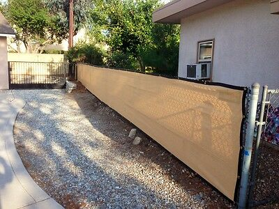 4FT x 50FT PRIVACY SCREEN MESH SHADE CLOTH W/BINDING & GROMMETS 85% BLOCKAGE
