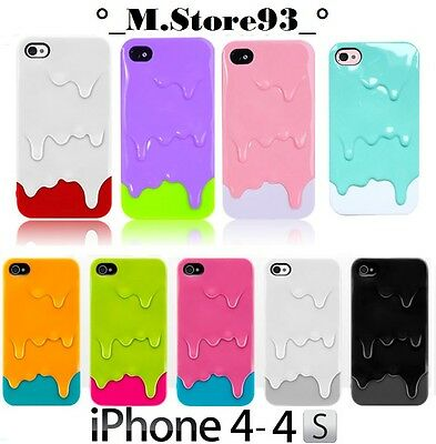 BUMPER COVER CUSTODIA CRYSTAL GELATO ICE CREAM 3D PER APPLE IPHONE 4 4G 4S