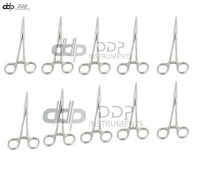 "10 Asrtd Kelly Locking Hemostat Forceps 5.5"" Surgical"
