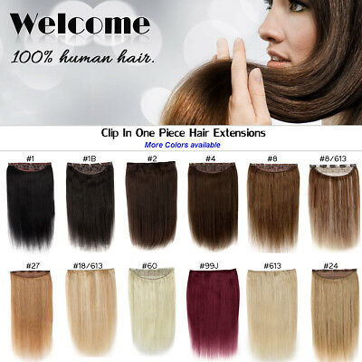 Full Head One Piece Clip In Remy Human Hair Extensions Hair pieces