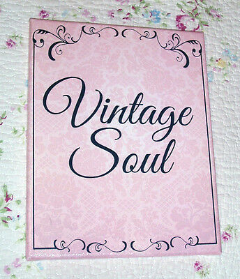 Shabby-Vintage saying Pink /& Black 8x10 Canvas Sign Be the Kind of Woman...