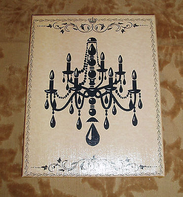 8x10 Sign, Shabby-Cottage-French-Vintage Decor-CHANDELIER WALL ART- Color Choice