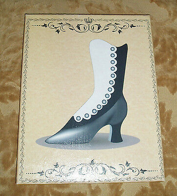 8x10 Sign-Shabby-Cottage-French-Vintage Decor-VICTORIAN BOOT ART- Color Choice