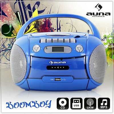 tragbarer kinder radio kassetten stereo mp3 cd player. Black Bedroom Furniture Sets. Home Design Ideas