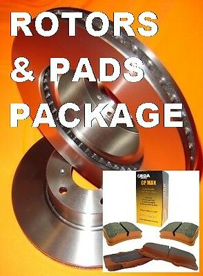 Ford Falcon BA BF FG Front Brake Rotors & Pads PACKAGE with 12/20000Km WARRANTY