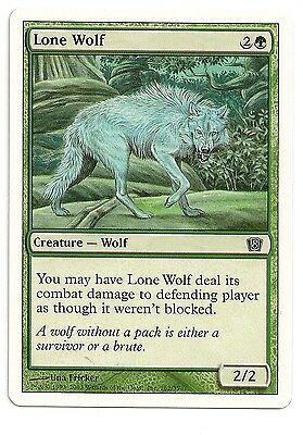 4 Lone Wolf ~ Green Seventh 7th Edition Mtg Magic Common 4x x4