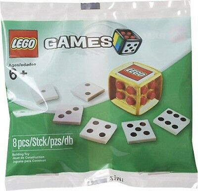4648939 LEGO Games gold Dice/Die new and sealed! Rare!