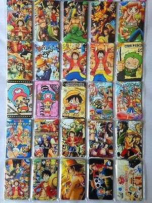 25pc!ANIME ONE PIECE!Bus Card Paster IC Card Sticker Credit Card Decal Paper!