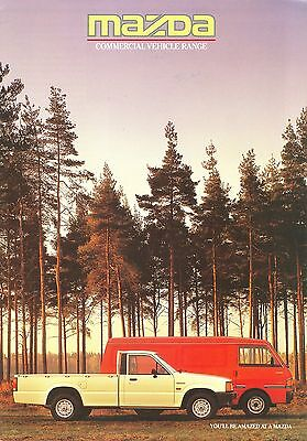 1986 Mazda Light Commercial Vehicle Range Brochure