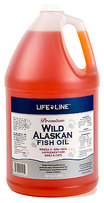 Life Line Wild Fish Oil 1gal Fresh Alaskan f/dogs & cats (similar to Salmon Oil)