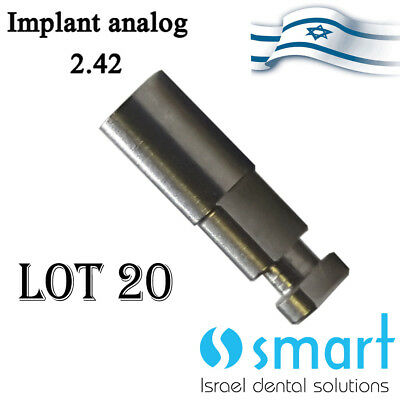 Lot x 20 Dental lab analog for all internal hex implant system abutment